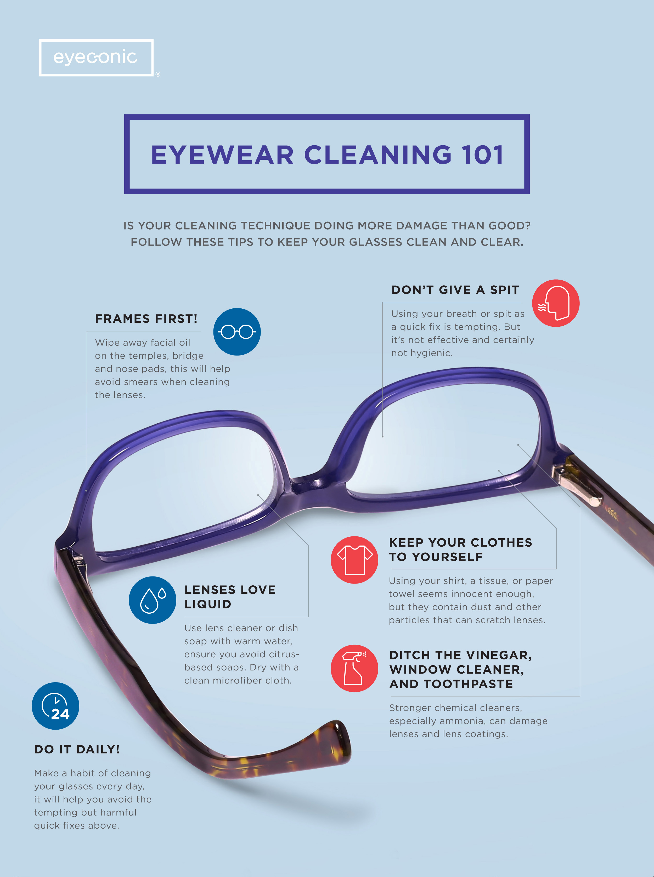 How To Clean Your Glasses Without Damaging The Lenses Eyeconic Br